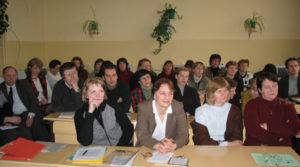 Seminaro Radviliškyje 2004 m. vasario mėn. dalyviai