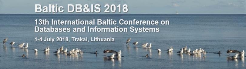BalticDBIS 2018 conference